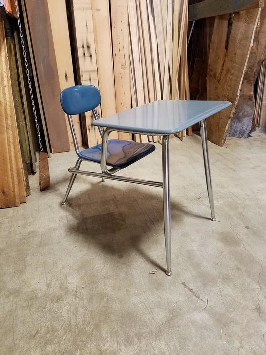 Vintage School Desk H30 x W24.5 x D37