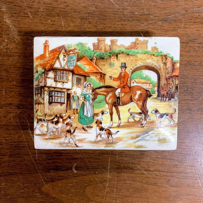 Vintage Lancster and Sons Sly Old Fox Porcelain Cigarette Box by OverTheYearsFinds