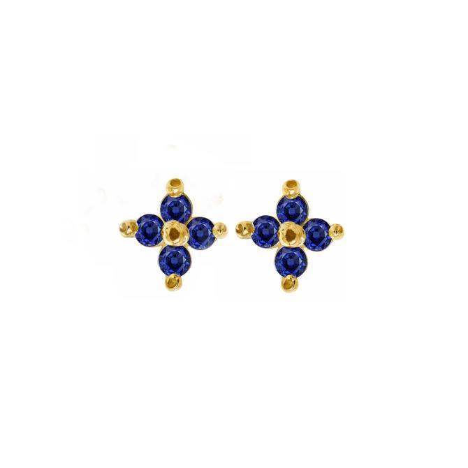 Blue Clover Studs