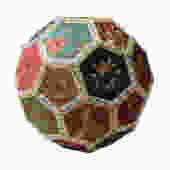 Chinese Hexagon Embroidery Art Ball Shape Accent Display cs2161E by GoldenLotusAntiques