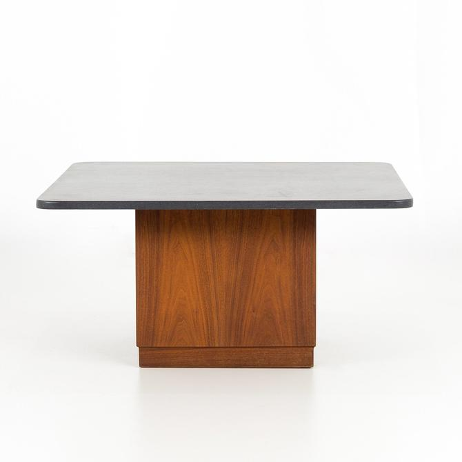 Founders Mid Century Walnut and Slate Top Cubed Cocktail Coffee Table - mcm by ModernHill