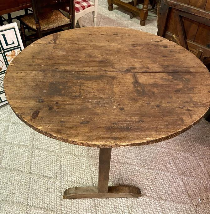 Antique French Provincial Tilt-Top Wine Tasting Table | Wine/Bar Décor