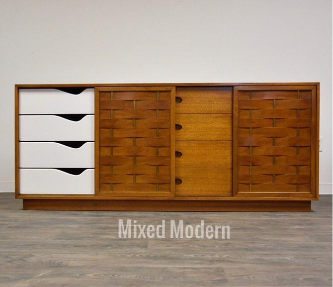 Harvey Probber Mahogany and Brass Dresser by mixedmodern1