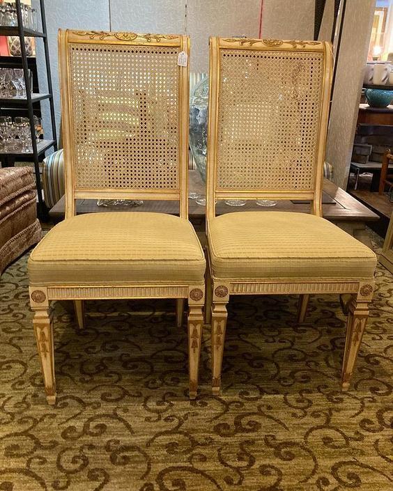 "Fancy cane back chair(s) 19"" x 19"" x 42.5"""