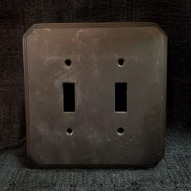 Heavy Brass Double Switch Plate 5.125 x 5.125