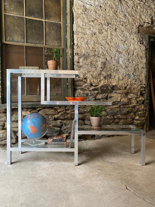 Mid century modern bookshelf glass etegre mid century modern bookshelf by VintaDelphia