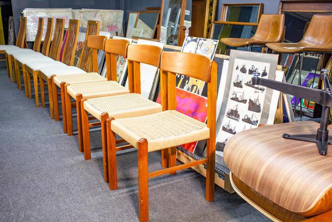 Stole mØbelfabrik danish teak dining chairs