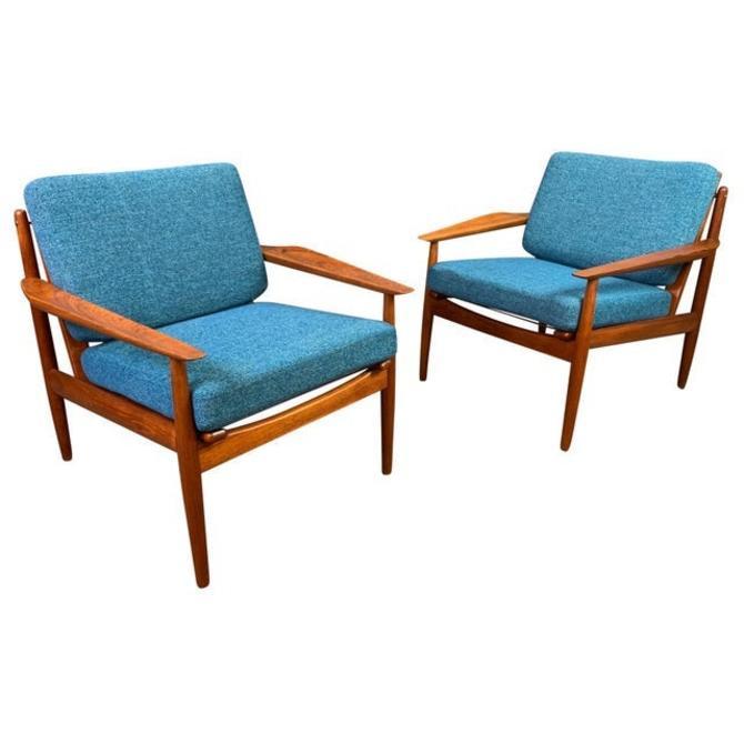 Pair of Vintage Danish Mid Century Modern Teak Easy Chairs by Arne Vodder for Glostrup Mobelfabrik by AymerickModern
