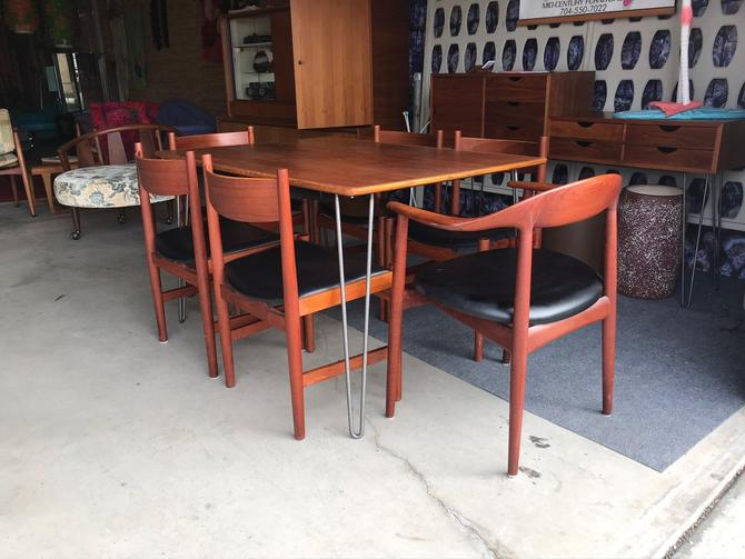 Set Of Teak Mid Century Modern Hans Wegner Dining Chairs FREE CONTINENTAL U.S. SHIPPING!! by ModernFlamingo