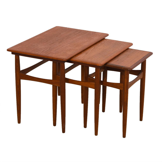 Andreas Tuck / Wegner Trio of Danish Solid Teak Nesting Tables