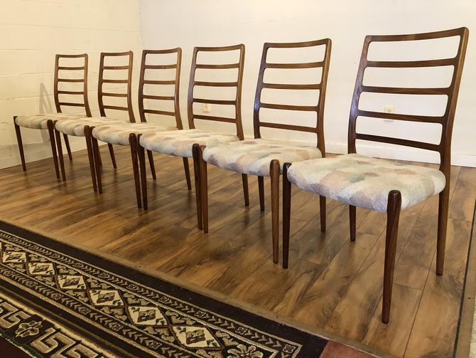 JL Moller Model 82 Rosewood Dining Chairs