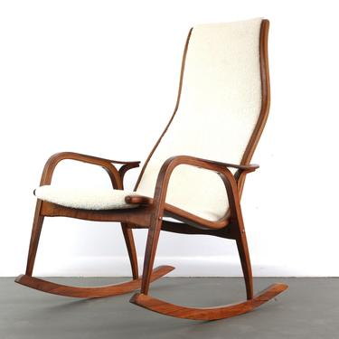 Lamino Rocking Chair in Gorgeous Knoll Textiles Boucle by Yngve Ekström for Swedese by ABTModern