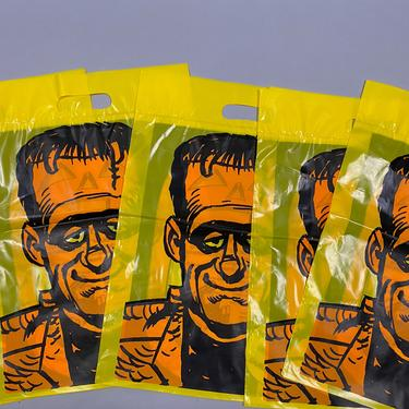 Vintage Trick Treat Bags Frankenstein Duracell (Lot of 5) by sevenbc