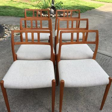 Danish Teak Dining Chairs by JL Moller model 79 by DanishGarage