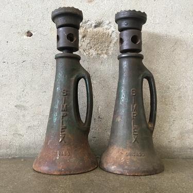 Pair of Simplex Cast Iron Automotive Jacks