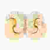 Christian Dior Textured Rhinestone Knot Earrings