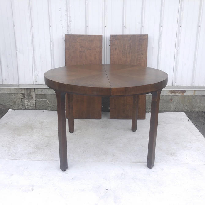 Mid-Century Round Dining Table wth Leaves by John Stuart by secondhandstory