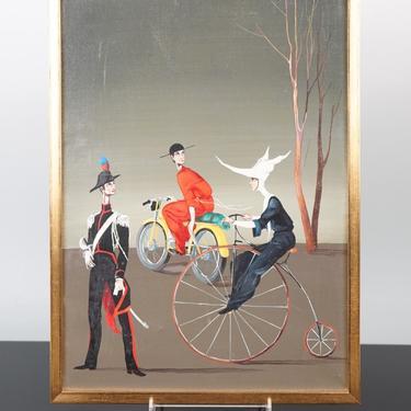 Surrealist Oil on Canvas, attr. to Mario D'Elia