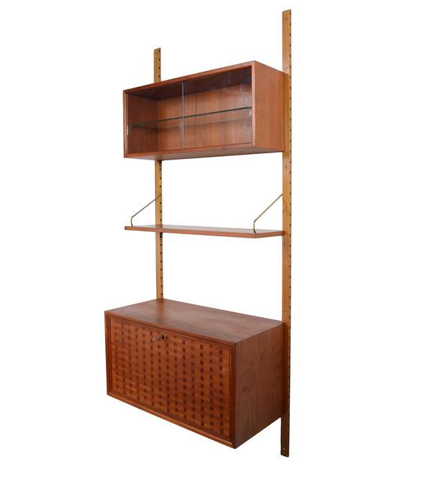 Drop Down Desk/Bar Wall Cabinet by Cado Royal System Danish Modern Custom Unit 1 by HearthsideHome