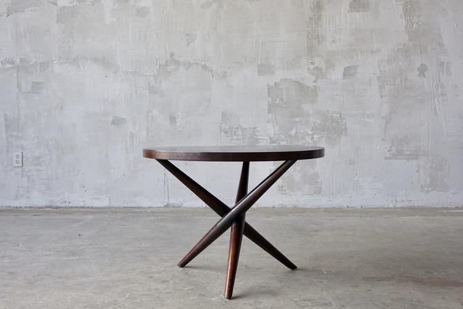 T.H. Robsjohn Gibbings X-Base Side Table by FandFVintage