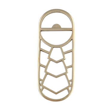 Brass Bottle Opener Geometric Bottle Opener Gold Bottle Opener by SarahCecelia