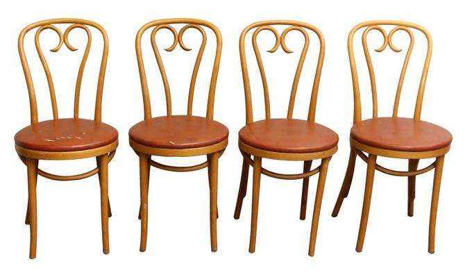 Vintage Cafe Chairs (Set of Four)