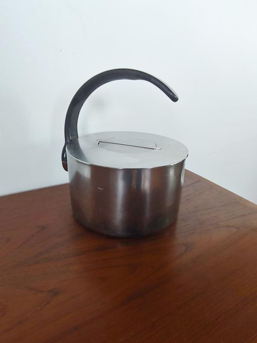 Vintage Dansk Stainless Steel Modernist Kettle Designed by V. Lorenzo Porzelli by ModandOzzie