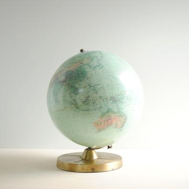 """Vintage World Globe, Replogle Better Homes and Gardens 12"""" True-To-Life Globe on Gold Metal Stand, 1960s World Globe by LittleDogVintage"""