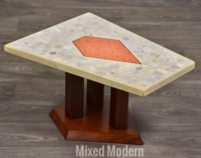 Harvey Probber Terrazzo Occassional End Table by mixedmodern1