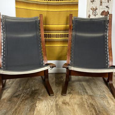 Set of 2 Vintage Mid Century Ingmar Relling WESTNOFA Siesta Chairs by DesertCactusVintage