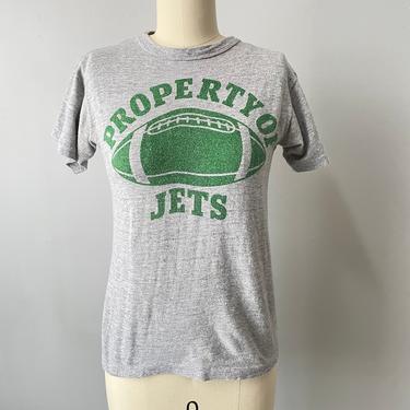 1970s T-Shirt CHAMPION Blue Bar Football Tee XS by dejavintageboutique