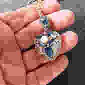 Rhinestone Heart Locket on Chain by LegendaryBeast