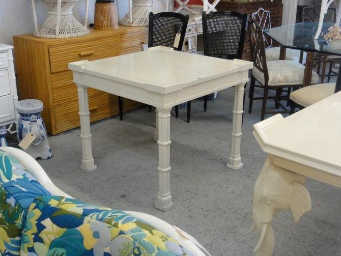 Faux Bamboo Reversible Top Game Table