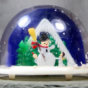 Vintage Winter Snow Globe - Classic Snowman Snow Globe - Frosty the Snowman - Classic Mid-Century Christmas Snow Globe   FREE SHIPPING by Bixley