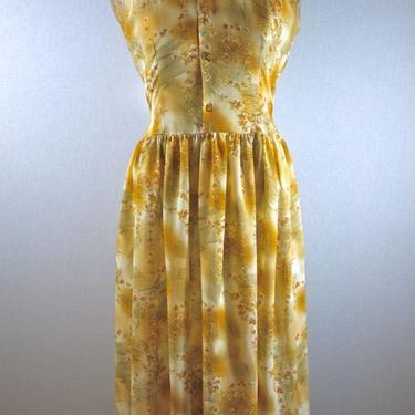 Peach Blush Floral Flowy Day Dress by citybone