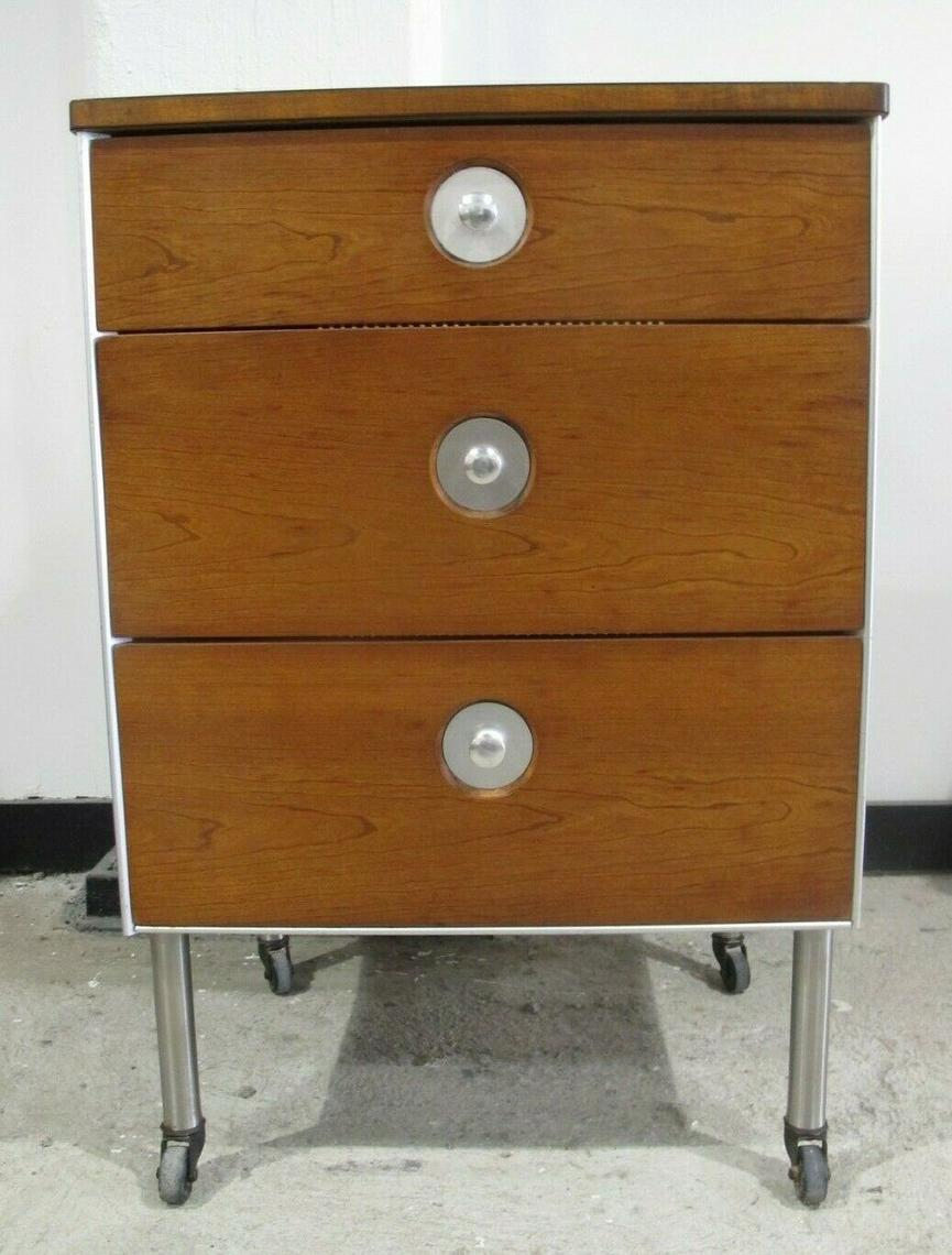 Raymond Loewy Hill Rom Medical Rolling Cabinet Mid Century
