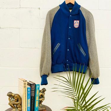 70\u2019s Wool Letterman Bomber Jacket