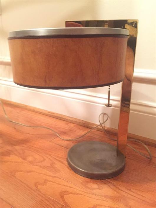 Rare Early Kurt Versen Studio Table/Desk Lamp Art Deco Midcentury Modern