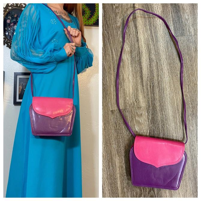 Vintage 1980's Pink and Purple Purse by SurrealistVintage
