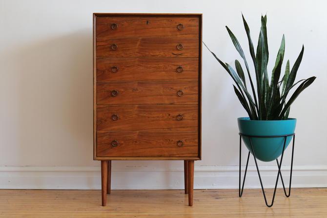 Mid Century Danish Modern Rosewood Highboy Dresser by SpacedOutFurniture