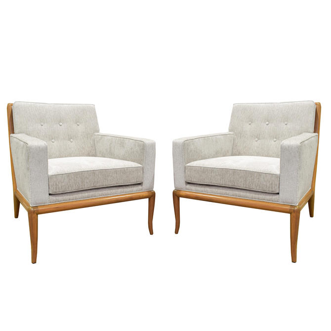 Pair of Classic Club Chairs by T.H. Robsjohn-Gibbings 1950s