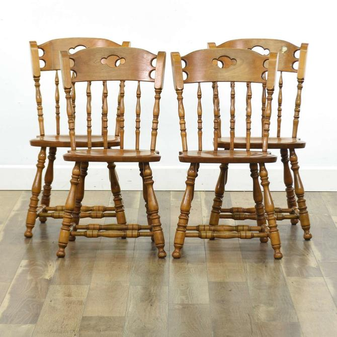 Set 4 Bent & Bros American Colonial Dining Chairs