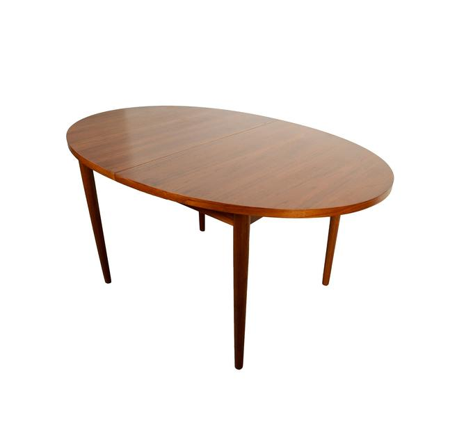 Oval Teak Dining Table Danish Modern Mid Century Modern by HearthsideHome