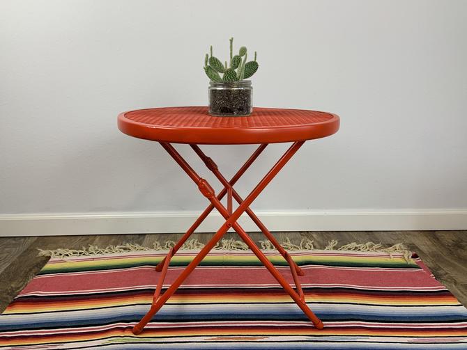 Vintage Salterini for Rid-Jid Style Mesh Metal Folding Table by DesertCactusVintage