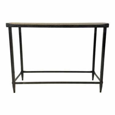 Currey & Co. Industrial Modern Concrete and Iron Elemental Console Table