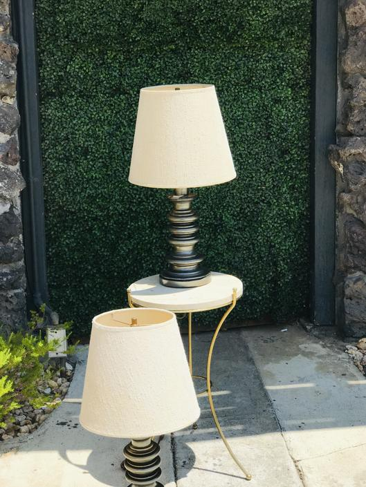 Pair of Pagoda Table Lamps