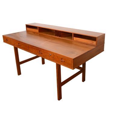 Lovig Teak Desk Dansk Danish Modern Peter Lovig Nielsen by HearthsideHome