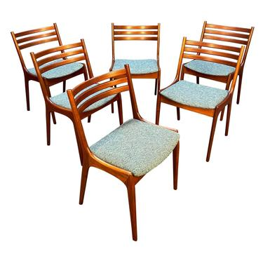 Set of Six Vintage Danish Mid Century Modern Teak Dining Chairs by Korup Stolefabrik by AymerickModern