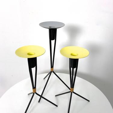 Trio of Scandinavian Tripod Candle Holders Laurids Lonborg 1960's by 20cModern