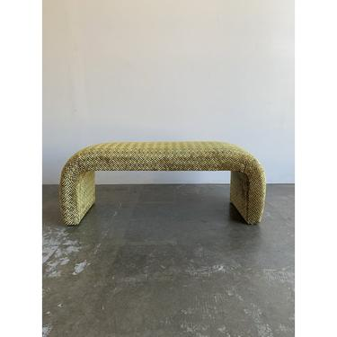 """Waterfall Art Deco Style Bench - """"Velvet"""" by VintageOnPoint"""